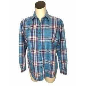 Wrangler Blues Shirt Western Womens M Star Buttons